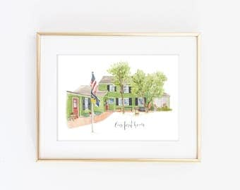 Watercolor House Portrait - Custom House Painting