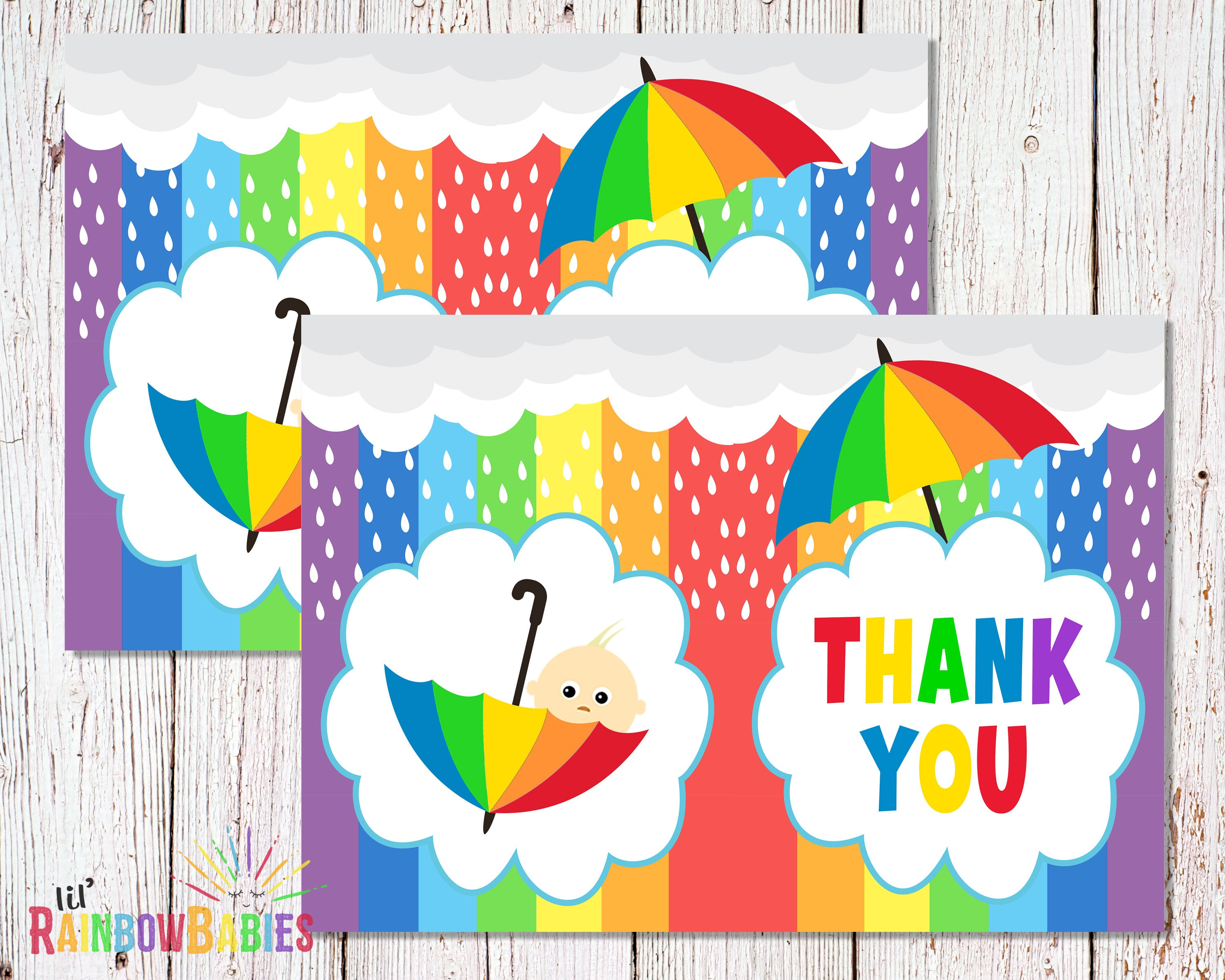 It's just an image of Revered Printable Baby Shower Thank You Cards