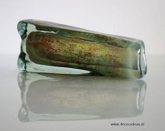 Heavy Vintage design vase crystal-glass.
