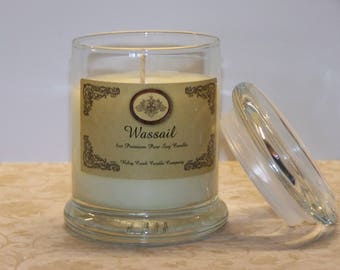 Wassail Premium Holiday Scent Pure Soy Candle 8oz