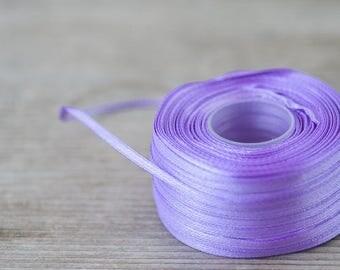 3mm Violet Satin Ribbon Skinny Ribbon 99 yards Long Craft Ribbon Decorative Ribbon Wedding Supplies DIY Card Making Ribbon Sewing Ribbon
