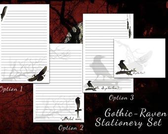 Raven Stationery - Victorian, Gothic Stationery