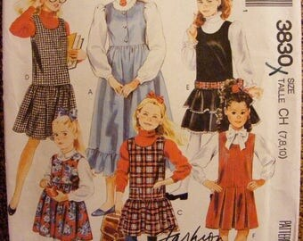 ON SALE 35% OFF Uncut McCall's SewingPattern 3830 Girls' Jumper Size 7 8 10