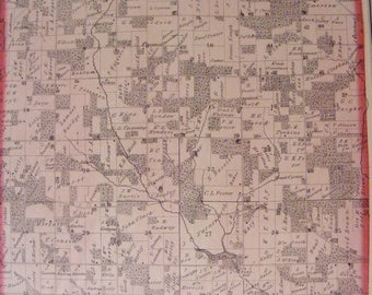 51% OFF 1873 Rock County Wisconsin WI Newark Township Original Hand Colored Plat Map