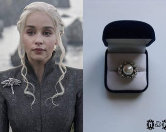 Daenerys Inspired Faux Pearl Ring