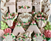 Wild One Floral Boho First Birthday Cookies