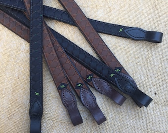 """READY TO SHIP  """"Big Eq"""" Polo Finish Browband in Brown or Black"""
