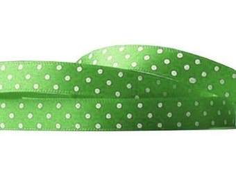 green peas 25 mm polyester Ribbon 3 meters