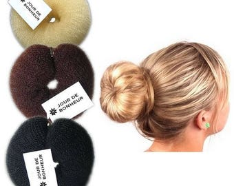 For blond hair bun donut size medium
