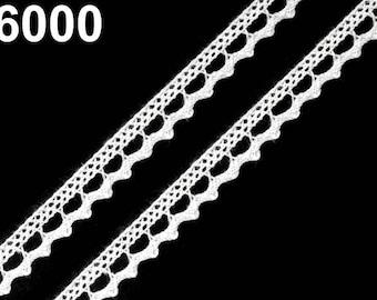 6000 - 9 mm white cotton lace
