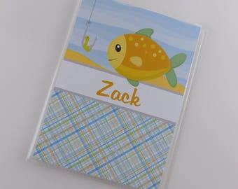 Fish Photo Album Boy Baby Shower Gift 5x7 or 4x6 Pictures Grandmas Brag Book Fishing Birthday Party Camping 854