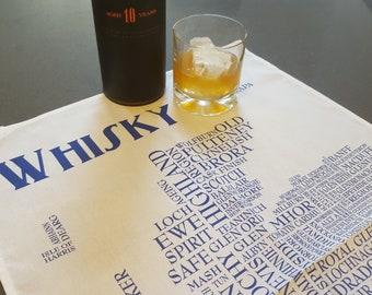 Whisky Tea Towel