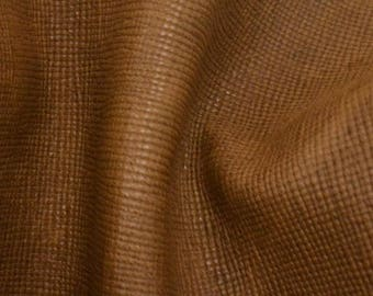 "Fashion Bark Brown Leather Cow Hide 8"" x 10"" Pre-cut 2 1/2 - 3 oz BR-64348 (Sec. 3,Shelf 3,A)"
