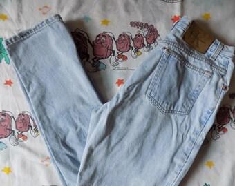 Vintage 90's Calvin Klein Light Denim Jeans, 27x29 slightly tapered worn in