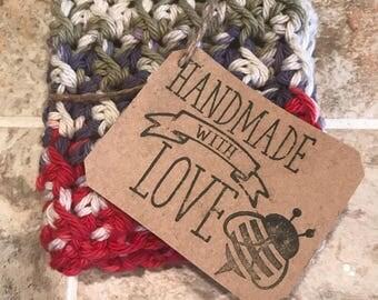 Handmade crocheted washcloth, dishcloth