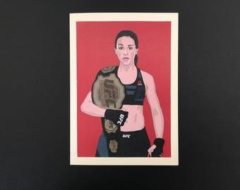 Joanna Jedrzejczyk UFC champion greetings card birthday WMMA Valentines