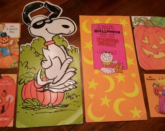 1978 Halloween Cards Recycle Projects Used Snoopy pumpkin more