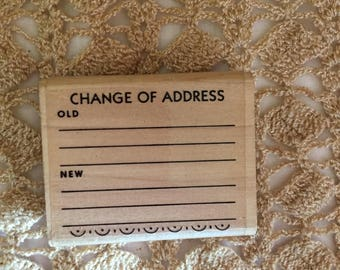 D048 Change of Address Rubber Stamp