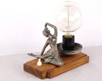 Desk Lamp, Ballerina Statue, Ballerina Lamp, Table Lamp, Bedside Lamp, Bedside Lighting, Night Light, Edison Lamp, Ballerina Art, Ballerina