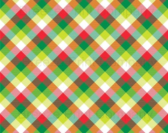 Green, red, lime and white plaid craft vinyl sheet - HTV or Adhesive Vinyl -  Christmas check HTV1855