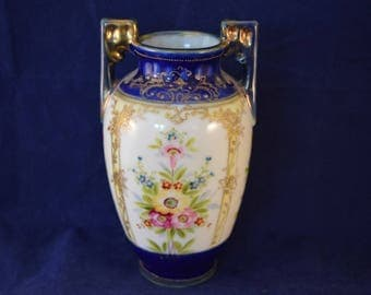Beautiful NORITAKE Small Floral Gilded Vase - c1908-1920s