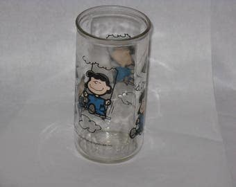 1952 Peanuts Lucy drinking glass United Feature Syndicate
