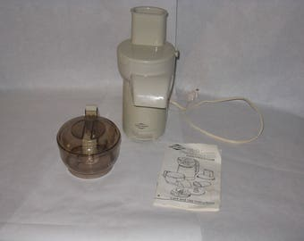 1980's West Bend food processor with manual
