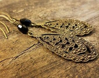 Victorian Earrings, Teardrop Earrings, Filigree Earrings