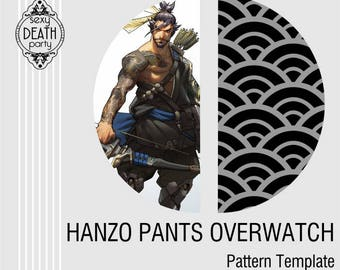 Hanzo Fishscale Pattern Template for Painting Fabric