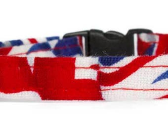 Noddy & Sweets Adjustable Cat Collar with bell and charm [[Union Jack]