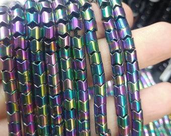 "Hematite cylinder beads 5.1 x 5.1 x 4.2 mm 0.2"" x 0.2"" x 0.16"" b50"