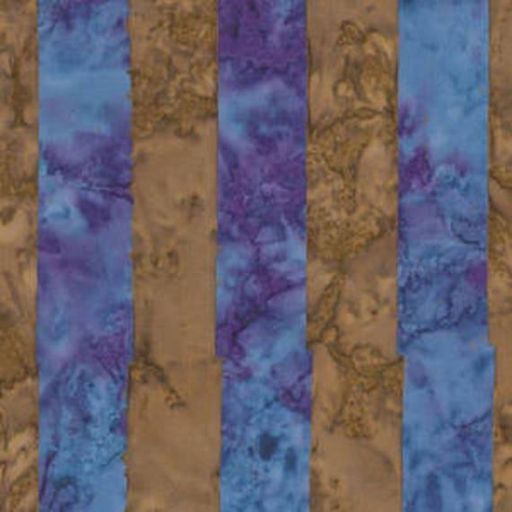 BIG STRIPE Blue ARTISAN Batik Kaffe Fassett Sold in 1/2 yd increments