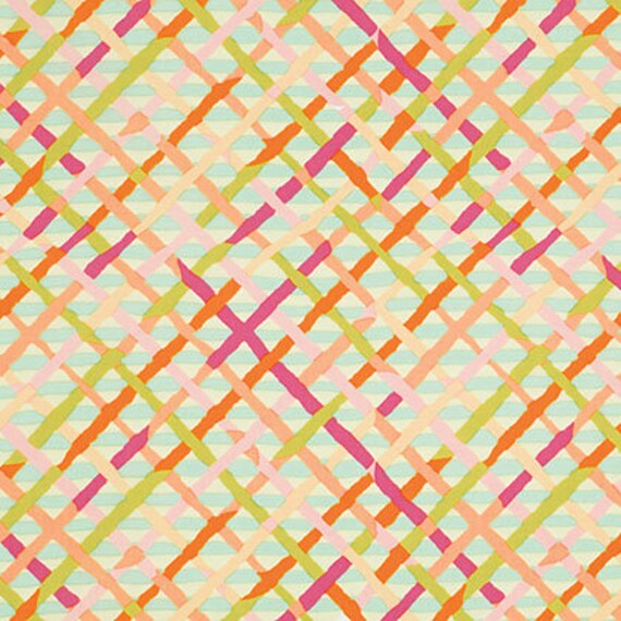 MAD PLAID Pastel BM037 Brandon Mably Kaffe Fassett Collective Sold in 1/2 yd increments