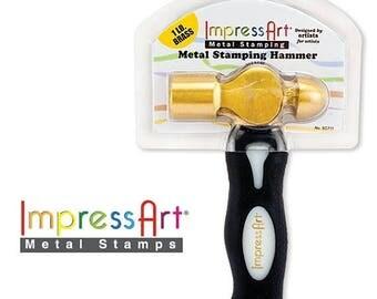 Summer Sale ImpressArt Brass Hammer, Jewelry Stamping, Mallet 1lb ImpressArt Hammer, Stamping Hammer, Tool, Ball Peen Hammer for Stamped Met