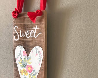 Sweetheart wood valantines pallet sign