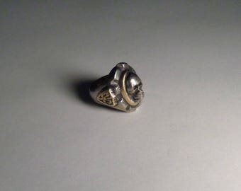 Mexican Biker Skull Ring Vintage Type Size 13