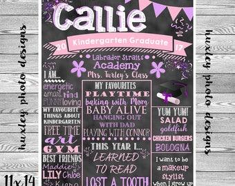 Primary/Pre-School Graduation Board  (Digital Poster)- ANY COLORS