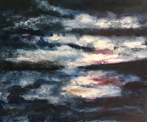 Sorry- Sold Cayuga Sunset, Mirror Painting #1