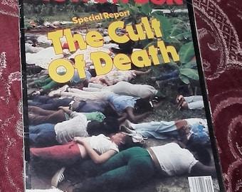 Newsweek magazine Special Report The Cult of Death Jonestown Jim Jones December 1978 issue