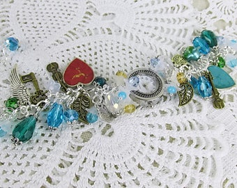 Watch quartz bracelet watch crystal glass bead Beads