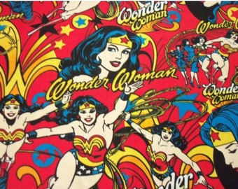 DC Comics, Wonder Woman Fabric by the Yard