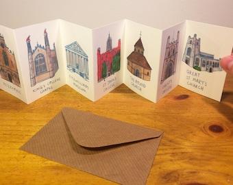 Mini Cambridge Buildings Concertina Book