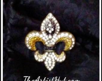 Saints Fleur De Lis brooch. This gorgeous New Orleans brooch is truly exquisite.