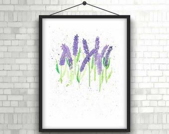 PRINT Delicate Lavender Painting