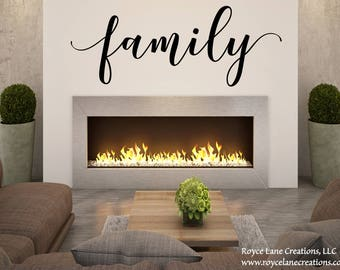 Handwritten Font Family Decal /Family Lettering