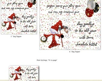 Print Your Own New Years Kisses Bag Toppers