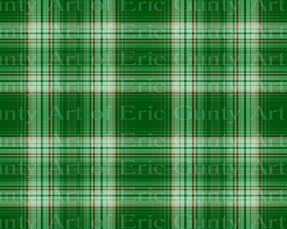 Green Plaid Birthday - Edible Cake and Cupcake Topper For Birthday's and Parties! - D22722