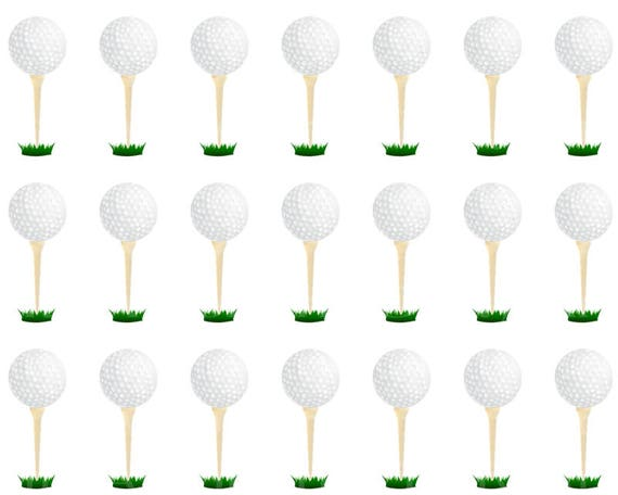 Golfing Tee Birthday - Designer Strips - Edible Cake Side Toppers- Decorate The Sides of Your Cake! - D22747