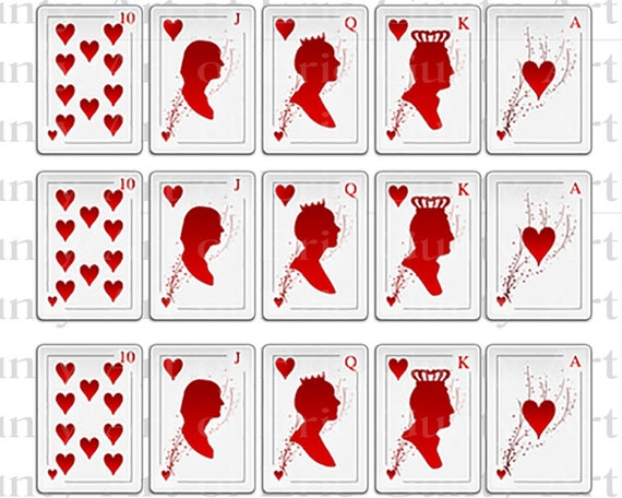 Casino Poker Hearts Birthday - Designer Strips - Edible Cake Side Toppers- Decorate The Sides of Your Cake! - D22803