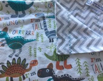 ROAR!! Dinosaur Flannel Baby Blanket